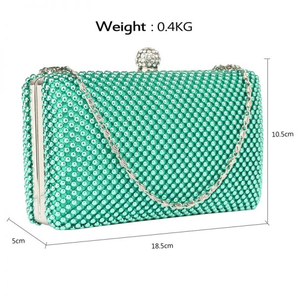LSE00278 – Emerald Crystal Beaded Evening Clutch Bag_2_