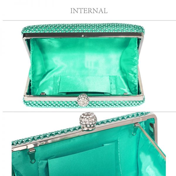 LSE00278 – Emerald Crystal Beaded Evening Clutch Bag_3_