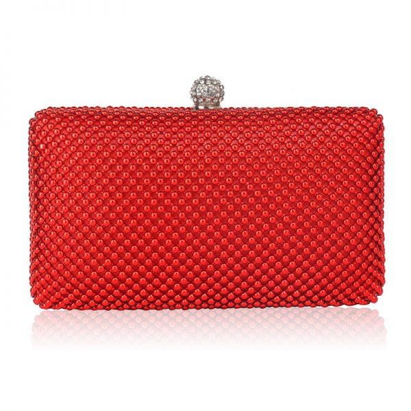 LSE00278 – Red Crystal Beaded Evening Clutch Bag_1_