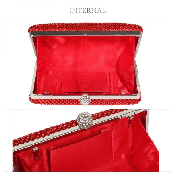LSE00278 – Red Crystal Beaded Evening Clutch Bag_3_