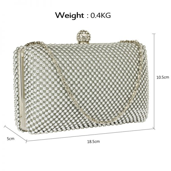 LSE00278 – Silver Crystal Beaded Evening Clutch Bag_2_