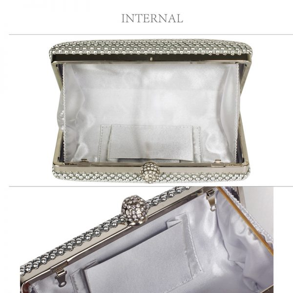 LSE00278 – Silver Crystal Beaded Evening Clutch Bag_3_