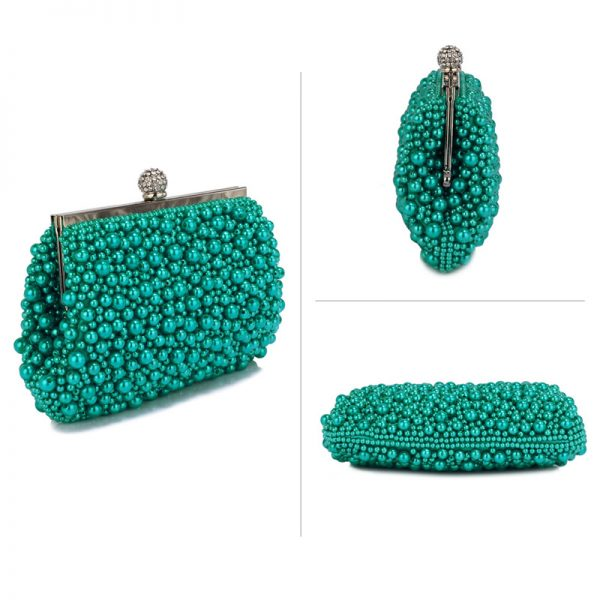LSE00296 – Emerald Vintage Beads Pearls Crystals Evening Clutch Bag_3_