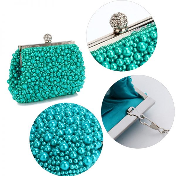 LSE00296 – Emerald Vintage Beads Pearls Crystals Evening Clutch Bag_4_