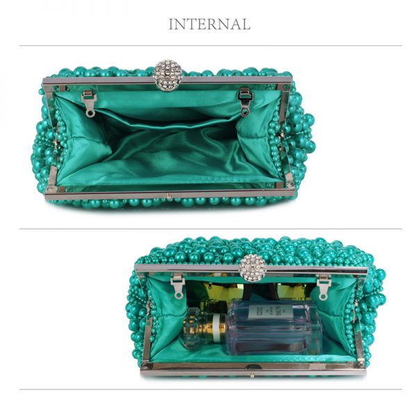 LSE00296 – Emerald Vintage Beads Pearls Crystals Evening Clutch Bag_5_