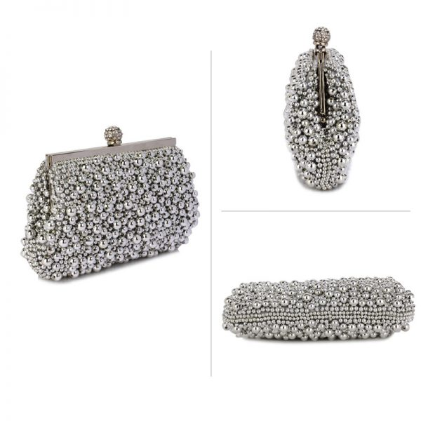 LSE00296 – Silver Vintage Beads Pearls Crystals Evening Clutch Bag_3_