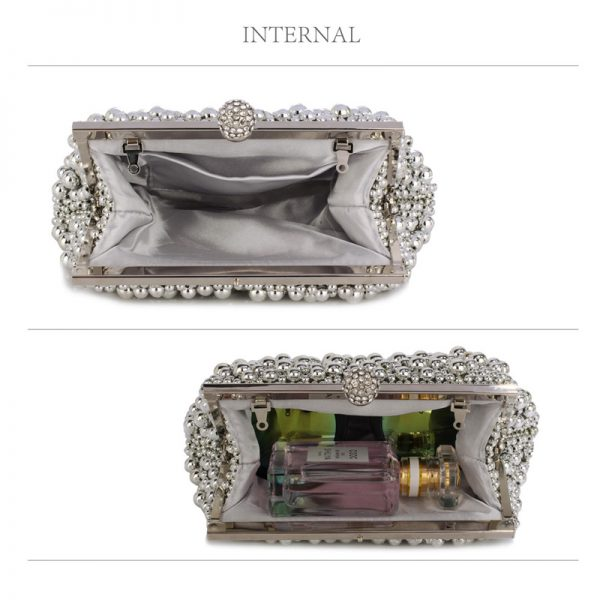 LSE00296 – Silver Vintage Beads Pearls Crystals Evening Clutch Bag_5_