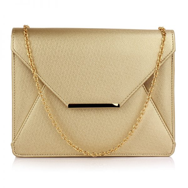 LSE00307A – Gold Flap Clutch Purse_1_