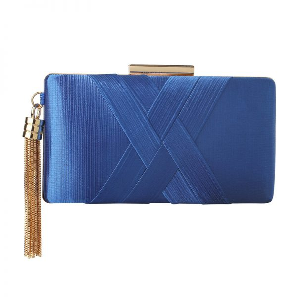 LSE00313 – Blue Tassel Clutch_1_