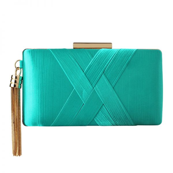 LSE00313 – Emerald Tassel Clutch_1_