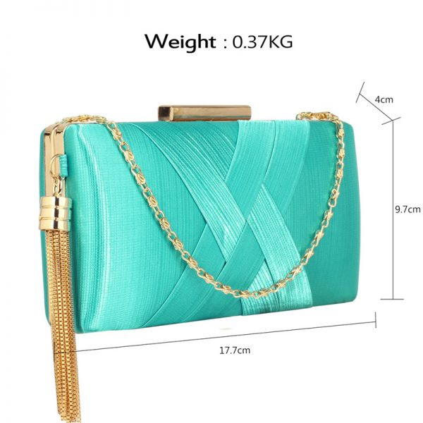 LSE00313 – Emerald Tassel Clutch_2_