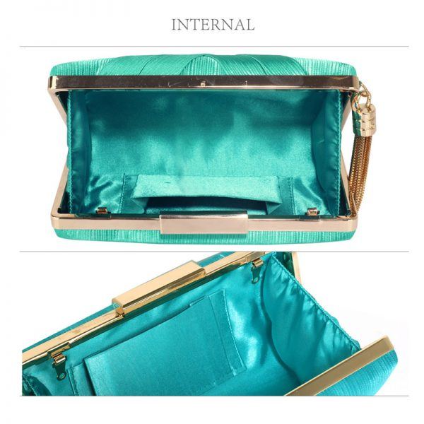 LSE00313 – Emerald Tassel Clutch_3_