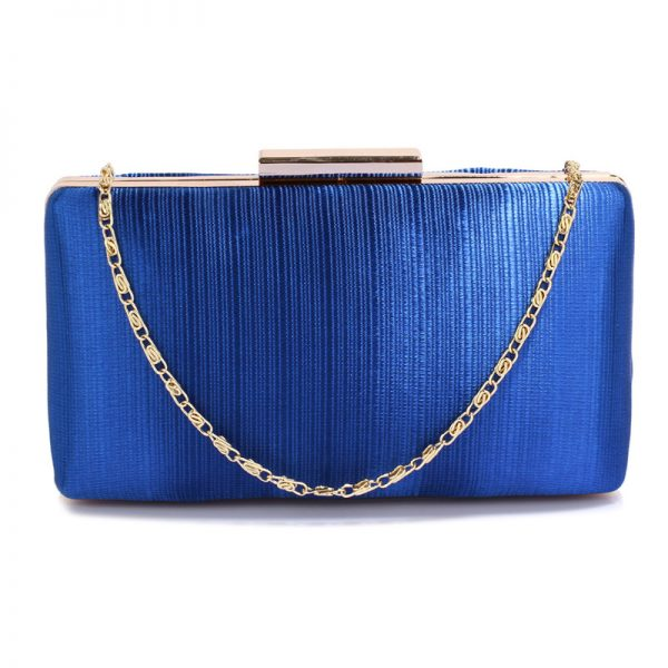 LSE00314 – Blue Satin Clutch Evening Bag_1_