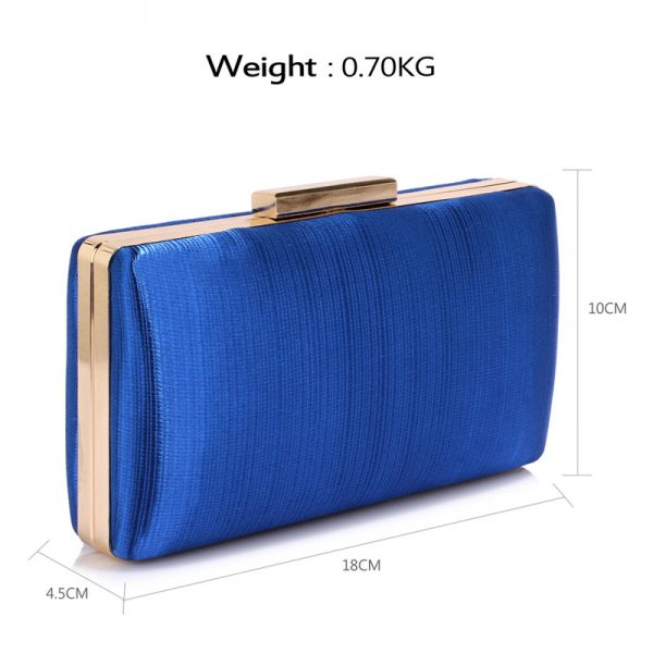 LSE00314 – Blue Satin Clutch Evening Bag_2_