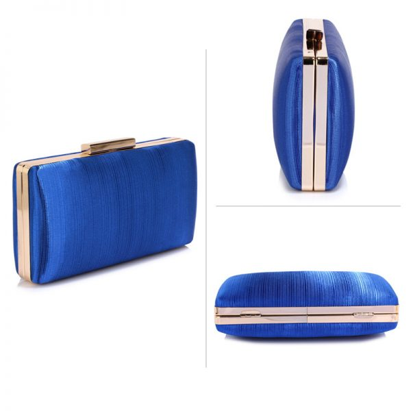 LSE00314 – Blue Satin Clutch Evening Bag_3_