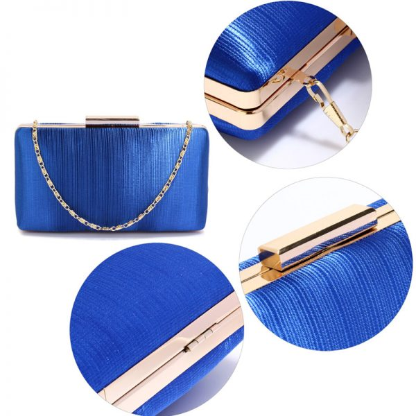LSE00314 – Blue Satin Clutch Evening Bag_4_
