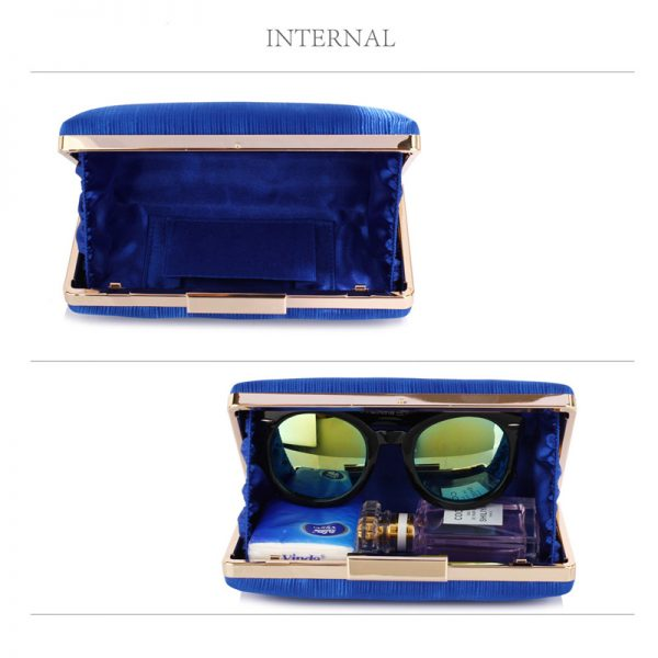 LSE00314 – Blue Satin Clutch Evening Bag_5_
