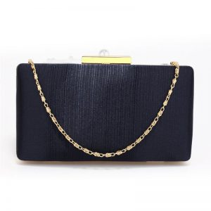 Navy Satin Clutch Evening Bag
