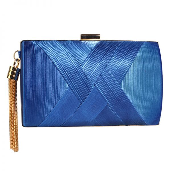 LSE00318 – Blue Tassel Clutch_1_