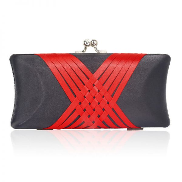 LSE0062 – Black Red Satin Evening Clutch Bag_1_
