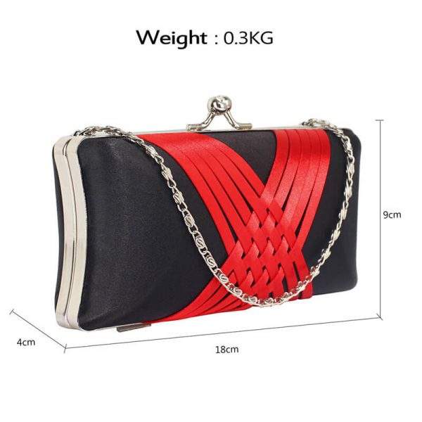 LSE0062 – Black Red Satin Evening Clutch Bag_2_