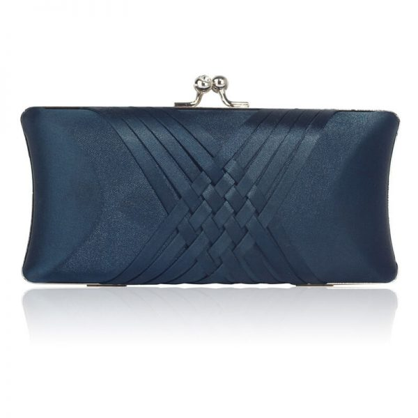 LSE0062 – Navy Satin Evening Clutch Bag_1_