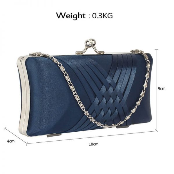LSE0062 – Navy Satin Evening Clutch Bag_2_