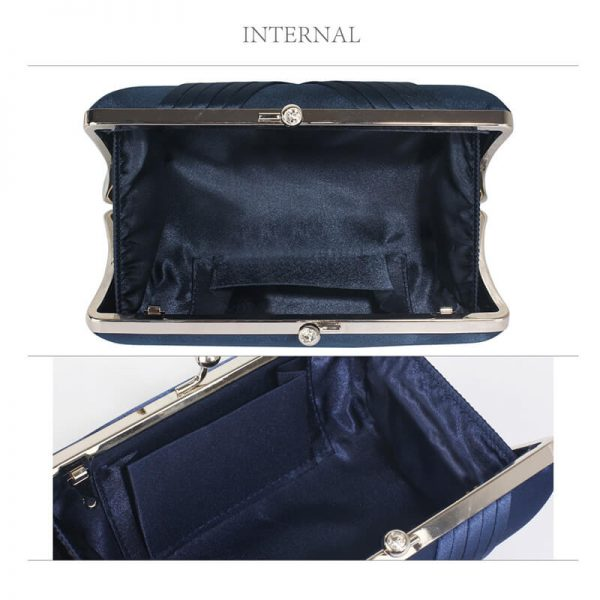 LSE0062 – Navy Satin Evening Clutch Bag_3_