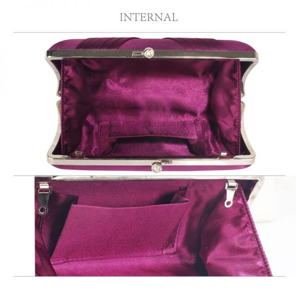 LSE0062 – Purple Red Satin Evening Clutch Bag_3_