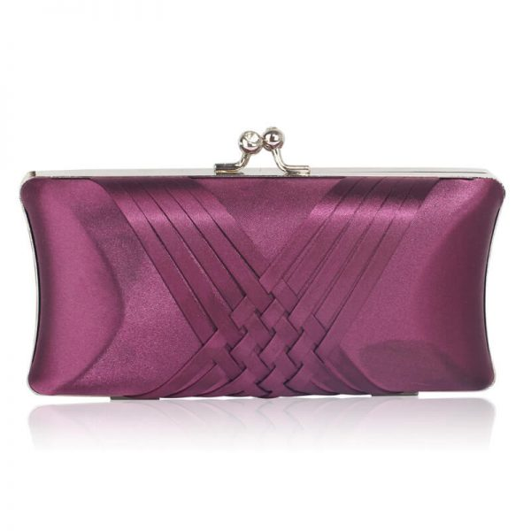 LSE0062 – Purple Satin Evening Clutch Bag_1_