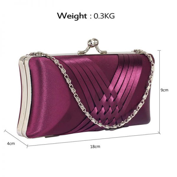 LSE0062 – Purple Satin Evening Clutch Bag_2_