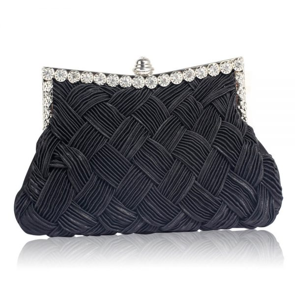 LSE0079 – Black Crystal Evening Clutch Bag_1_