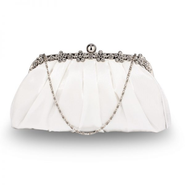 LSE0088 – Ivory Sparkly Crystal Satin Evening Clutch_1_