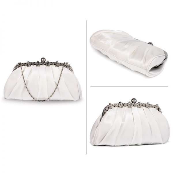 LSE0088 – Ivory Sparkly Crystal Satin Evening Clutch_3_