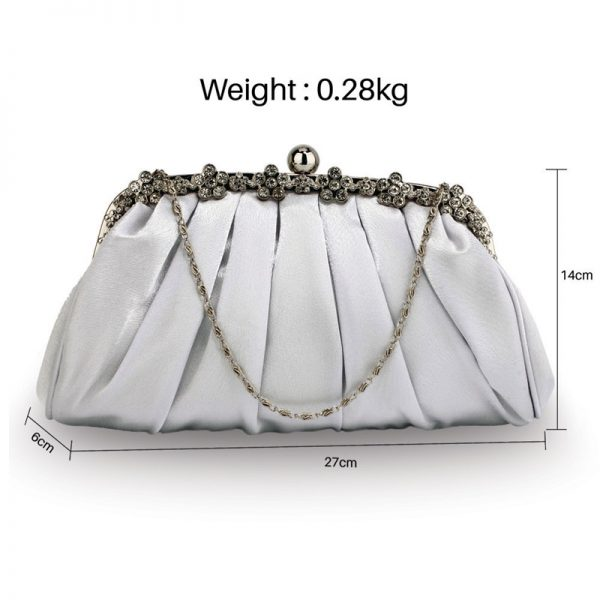 LSE0088 – Silver Sparkly Crystal Satin Evening Clutch_2_