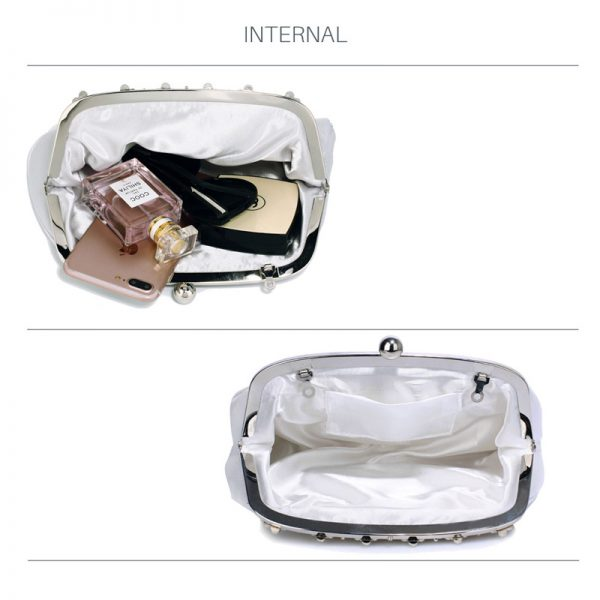 LSE0088 – Silver Sparkly Crystal Satin Evening Clutch_4_