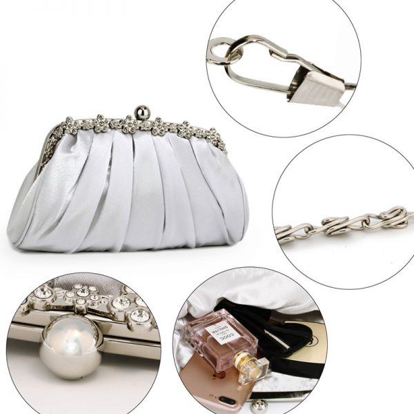 LSE0088 – Silver Sparkly Crystal Satin Evening Clutch_5_