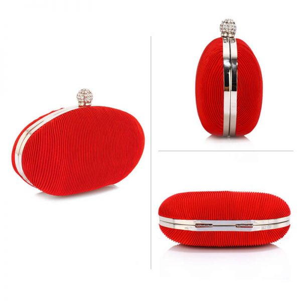 LSE0092 – Red Crystal Satin Evening Clutch_3_