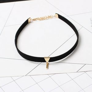 Velvet Choker Necklace black gold
