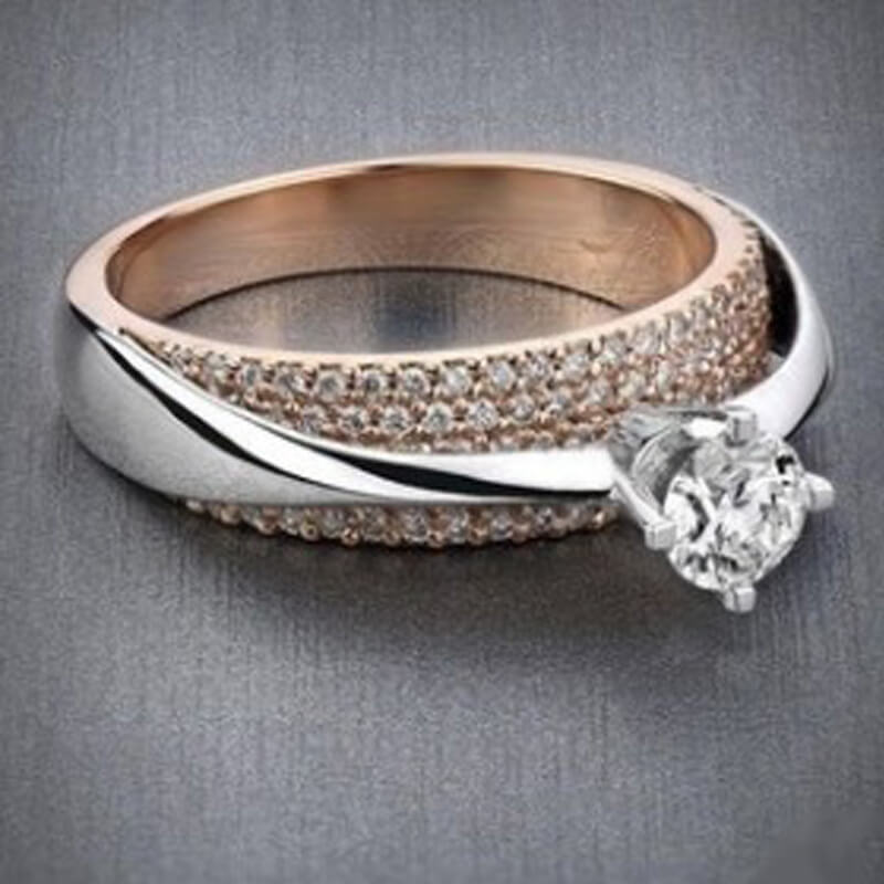 Silver Rose Gold Ring AR44
