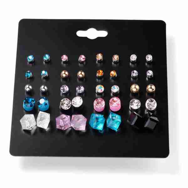 20 Pair Stud Earring Set – Multi Color AS41 (1)