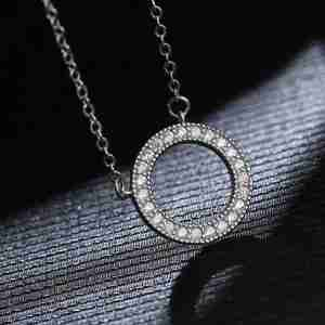 Round Circle Shape Necklace