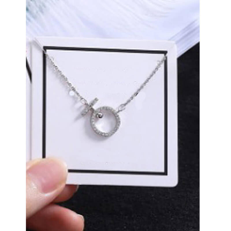 Silver Round Shape Necklace