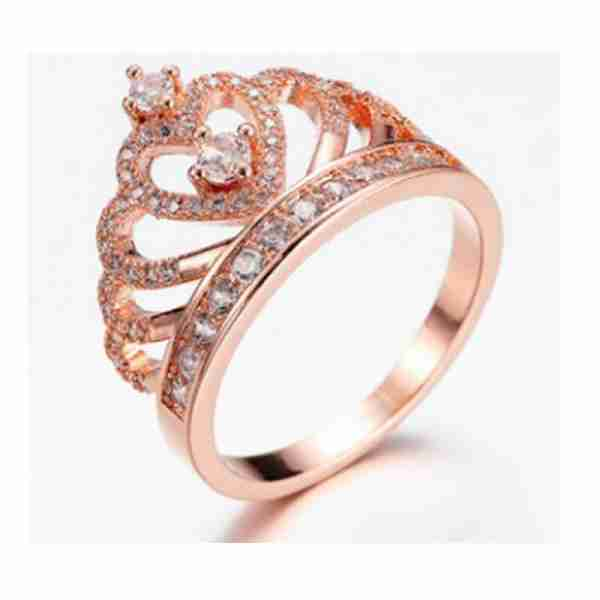 AR34 Crown Ring With Full Diamantes