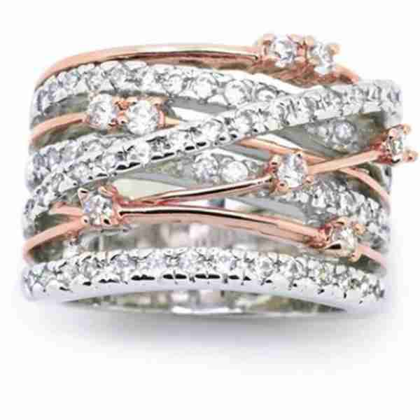 AR40 2 Tone Ring For Wedding Party