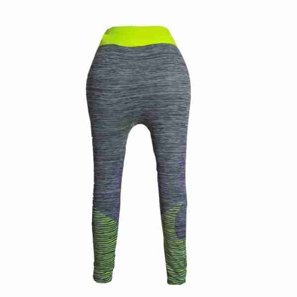 ZL11 – 1 – Yellow Ladies Sports Yoga Exercise or Daily Use Legging Tights
