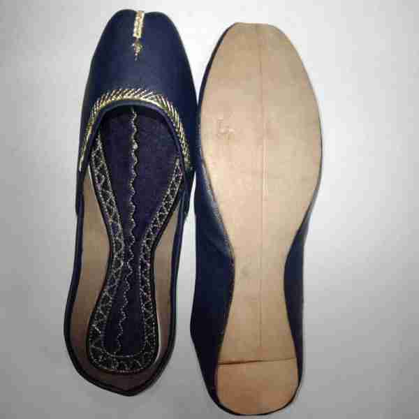 ZS10 Blue Ladies Khussa Shoes Non Slip