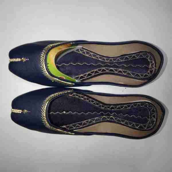 ZS10 Blue Ladies Khussa Shoes Non Slip1