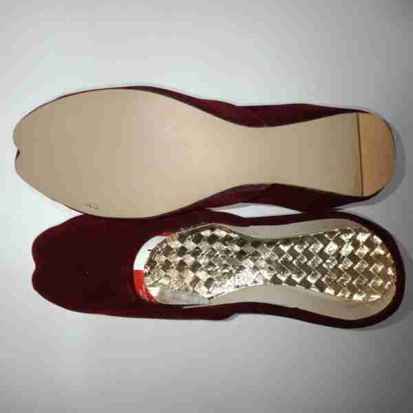 ZS12-Maroon Suede Khussa Shoes – Non Slip3