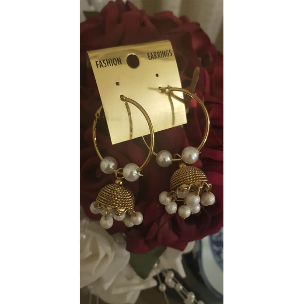 Antique Earring Bali Jhumke Pakistani With Pearls Traditional